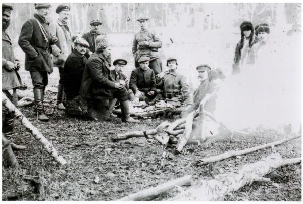 пос. Иннокентьевск - На привале.1910 г., альбом Люди из нашего прошлого